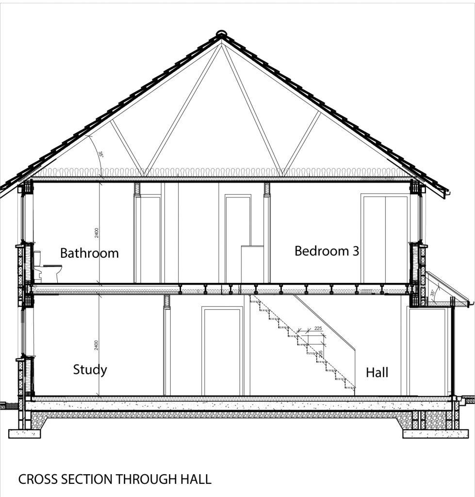 Cross Section through Hall