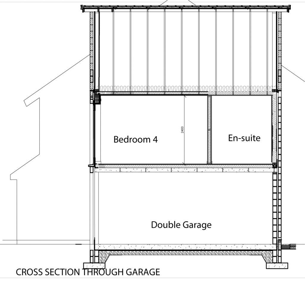 Cross Section through Garage