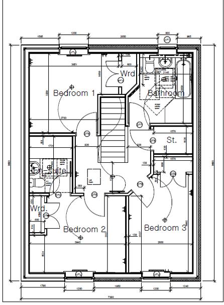 Plot ten Shore Road first Floor Plan