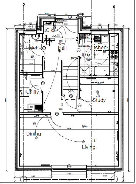 Plot ten Shore Road Ground Floor Plan