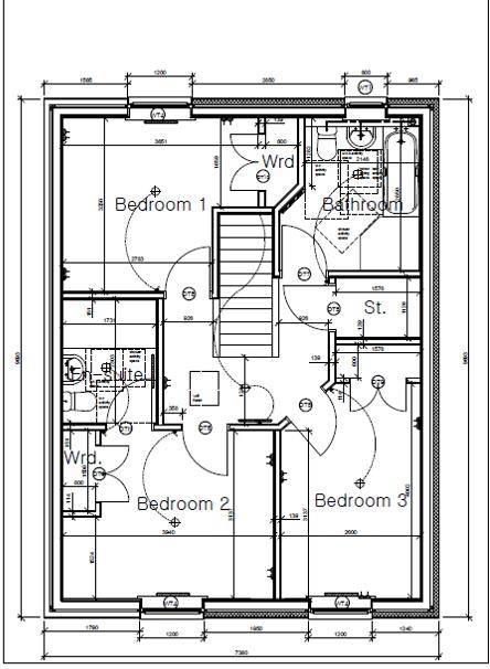 Plot seven first floor plan