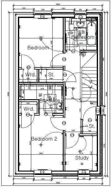 Plot nine Shore Road first Floor Plan