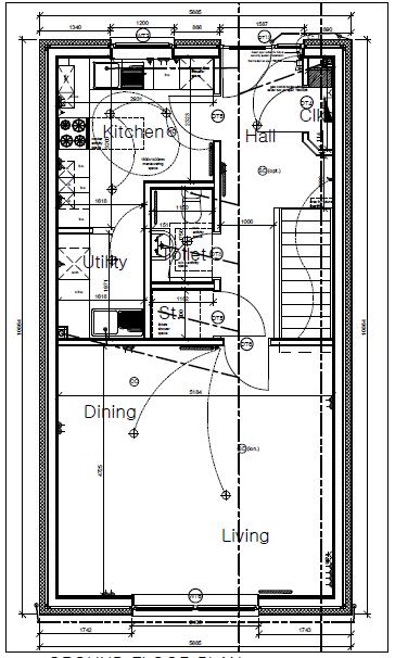Plot nine Shore Road Ground Floor Plan